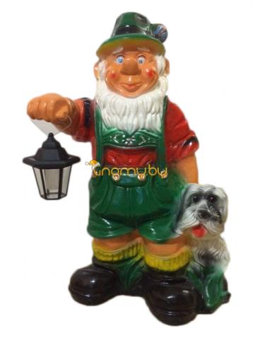 Гномик шахтер с собачкой